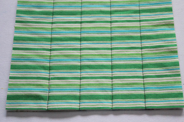 back of quilt as you go block