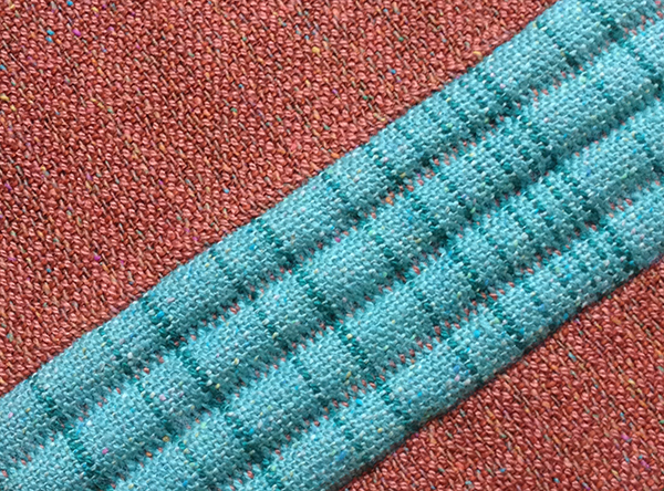 padded four-shaft double weave