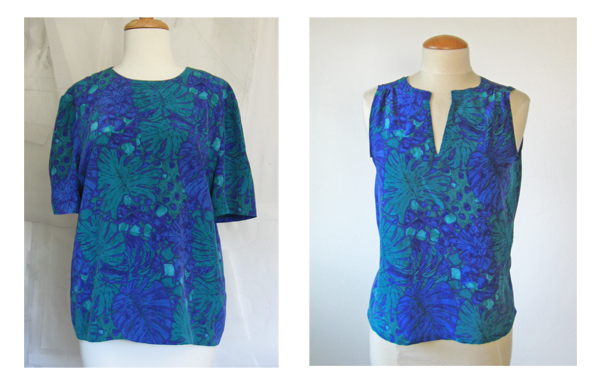 silk blouses refashioned