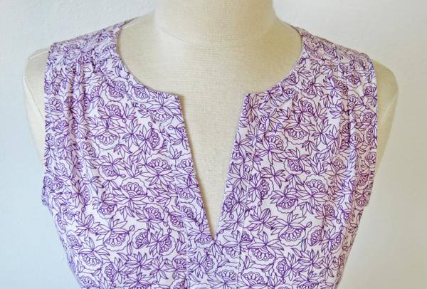 cotton top neckline