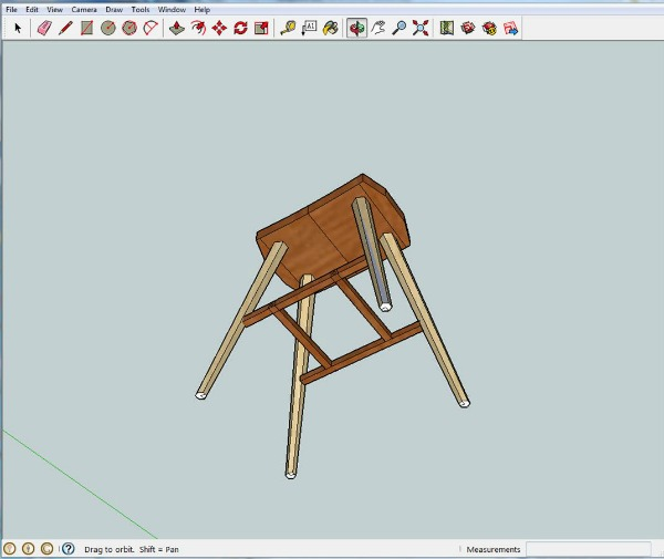 Underside of stool