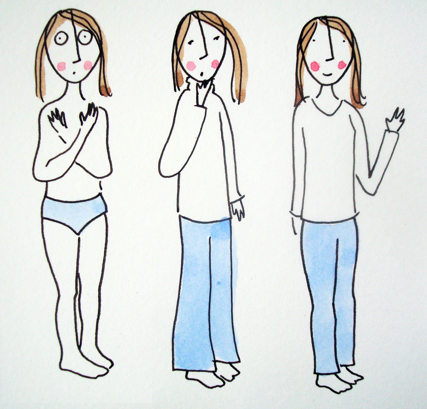 How to illustrate fitted clothing