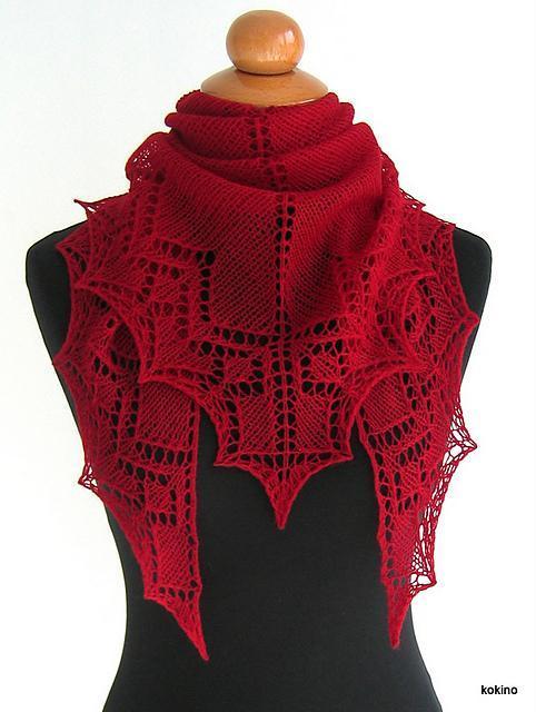 I Heart Lace Shawl -- Free Knitting Pattern on Bluprint!