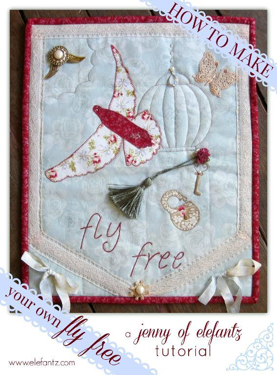 Fly Free Embroidery Pattern