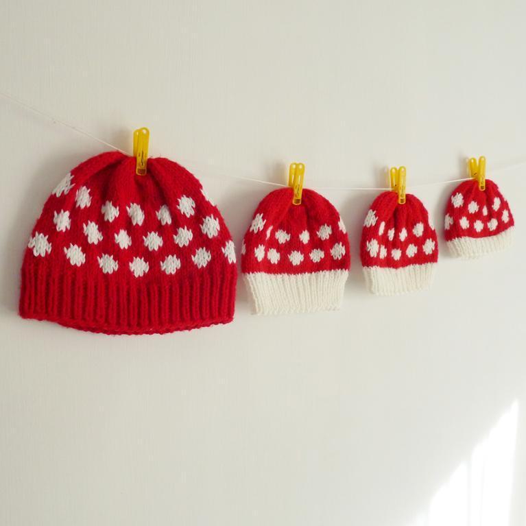 Mushroom hat knitting pattern