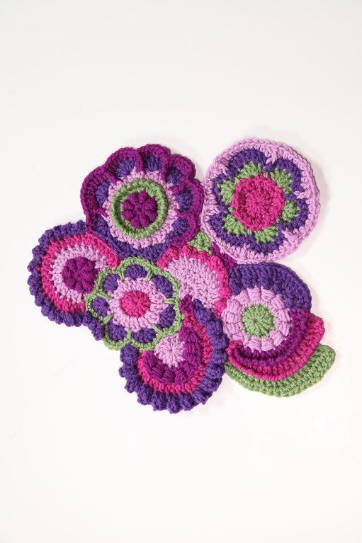 Crochet scrumbled fabric