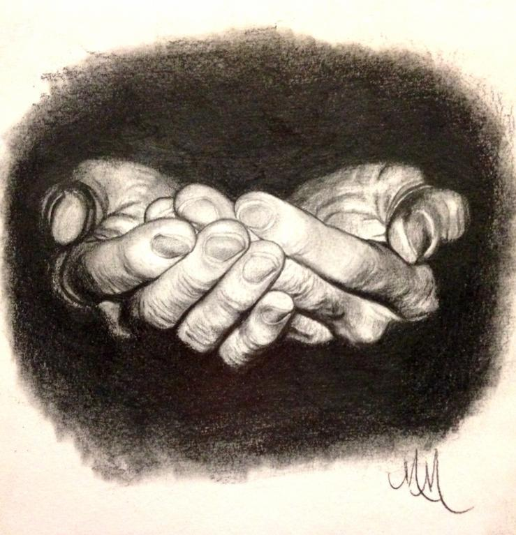 """His Hands"" drawing"