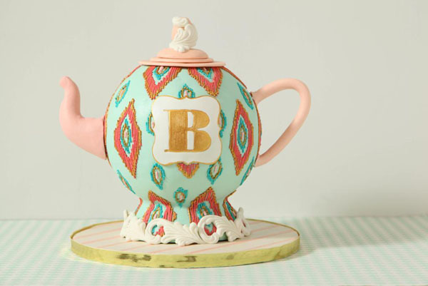 Bridal Shower Cake Teapot Cake