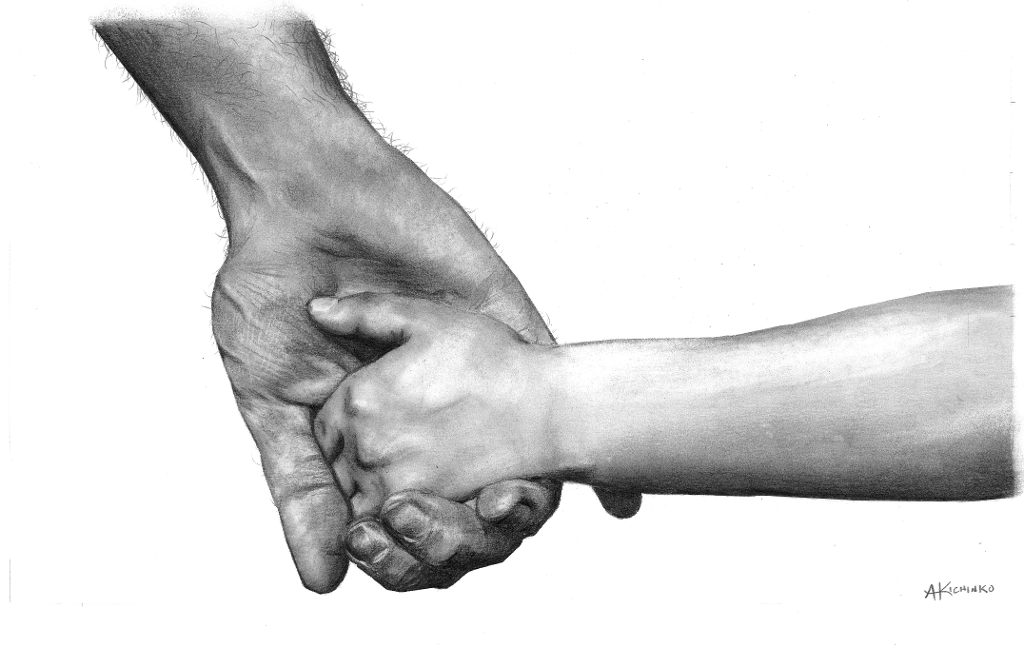 Father & son holding hands
