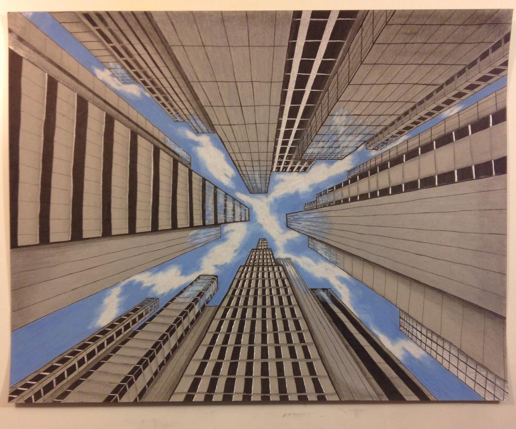 Cityscape Drawing on Bluprint