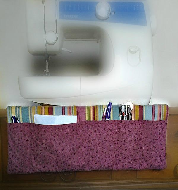 Sewing machine organizer