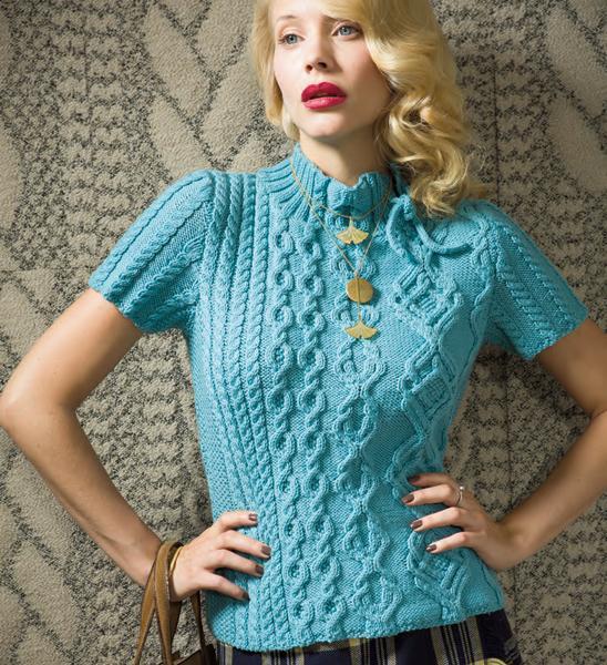Off Center Top knitting pattern