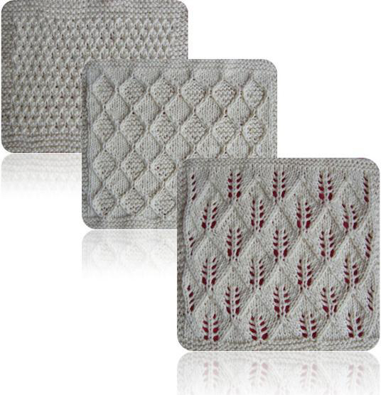 Knitted organic spa cloth