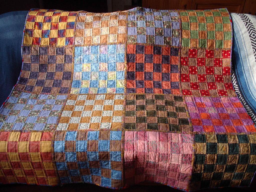 Squares in a Square finished quilt