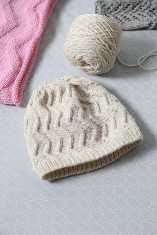 Knitted chevron hat