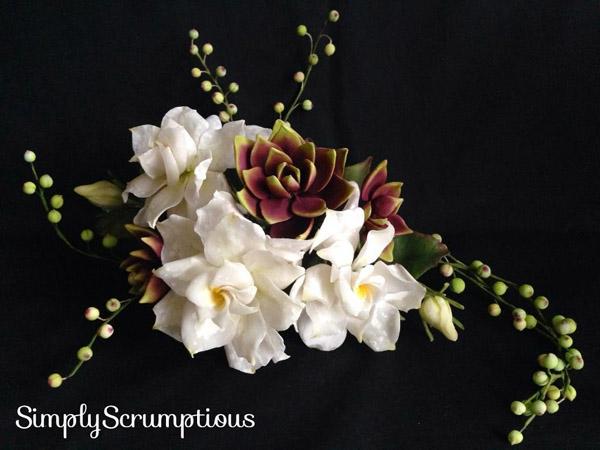 Gardenias and succulents