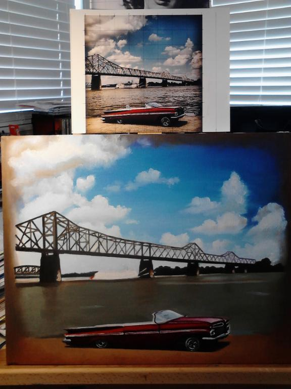 Grid and Final Painting via Craftsy member cmwilliam2205131