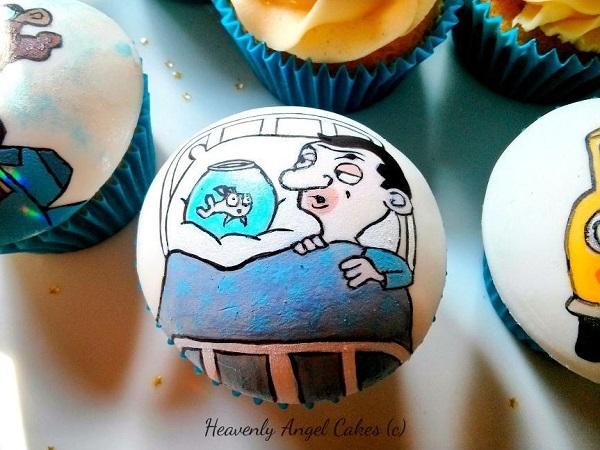 Mr. Bean fondant cupcakes