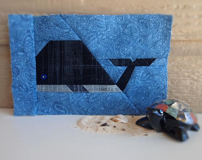 Whale paper pieced quilt