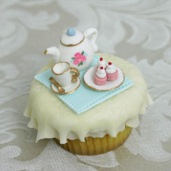 Tiny Tea Party Cupcake Toppers