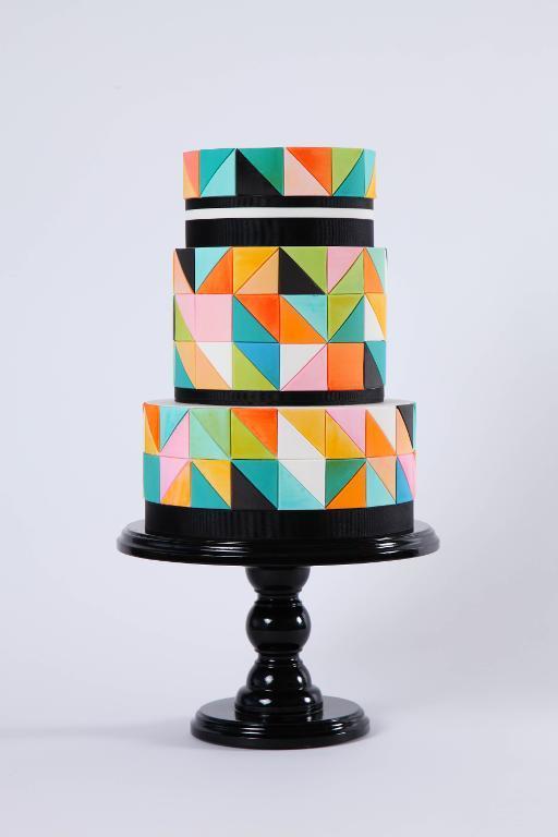 Color-Block Mosaic Cake