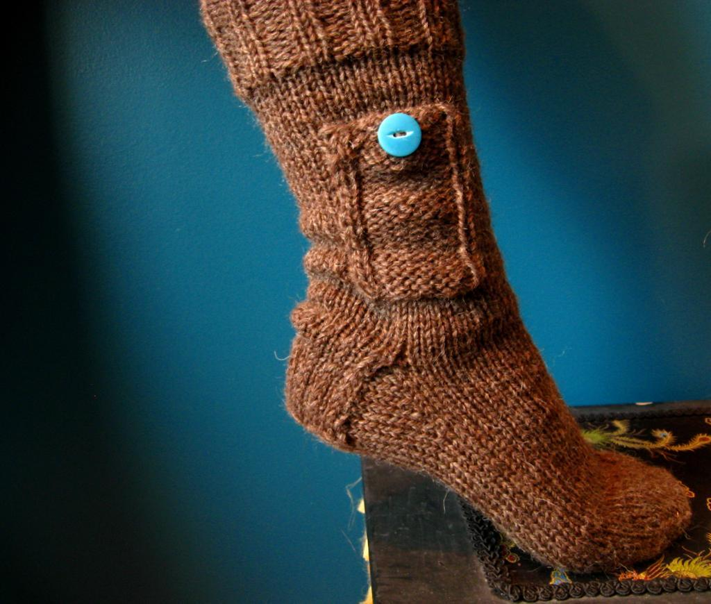 Knitted pocket socks