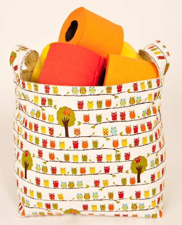 Fabric storage bin sewing pattern