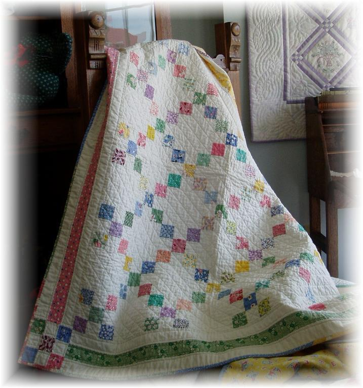 9 Patch Crib Quilt