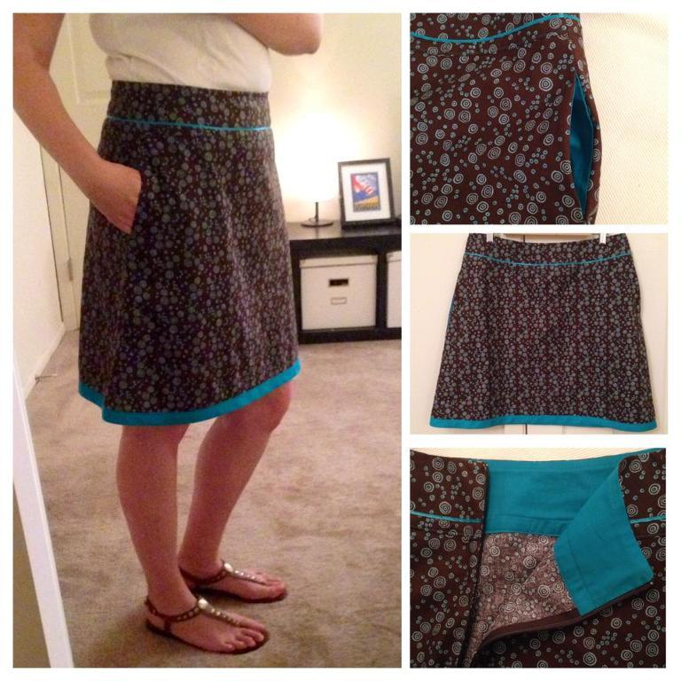 Skirt with Yoke & In-Seam Pockets
