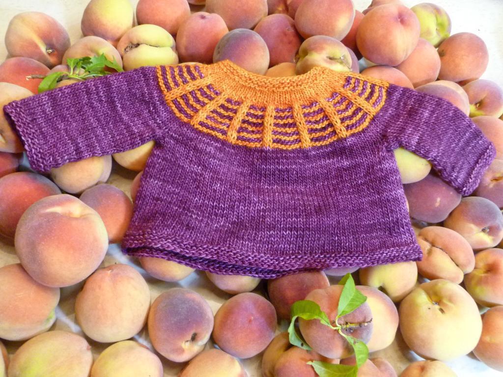 Winslow baby sweater knitting pattern