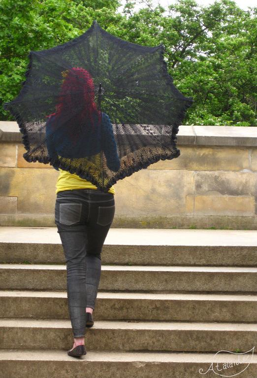 Lady of the Lake knit umbrella pattern