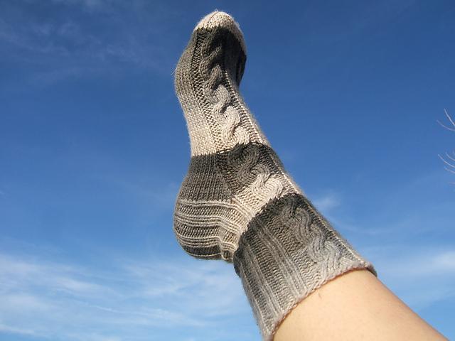 Knitted Eirene socks