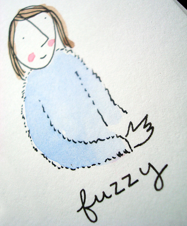 How to illustrate fuzzy sweater