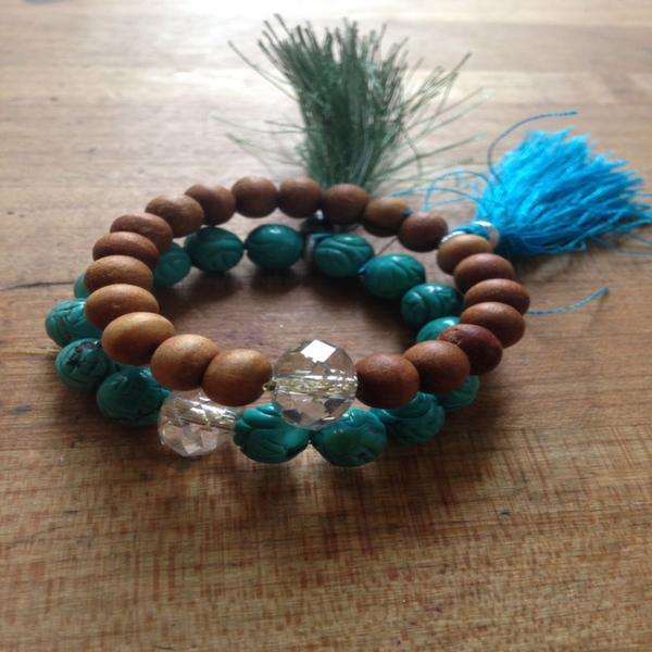 Finished mala bracelets