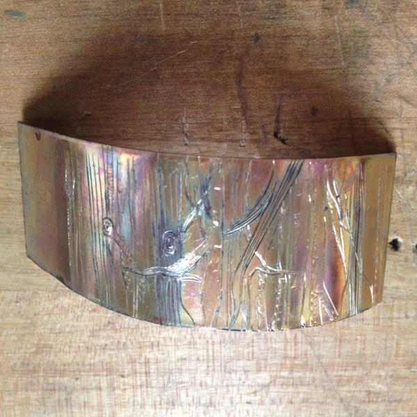Copper heat patina