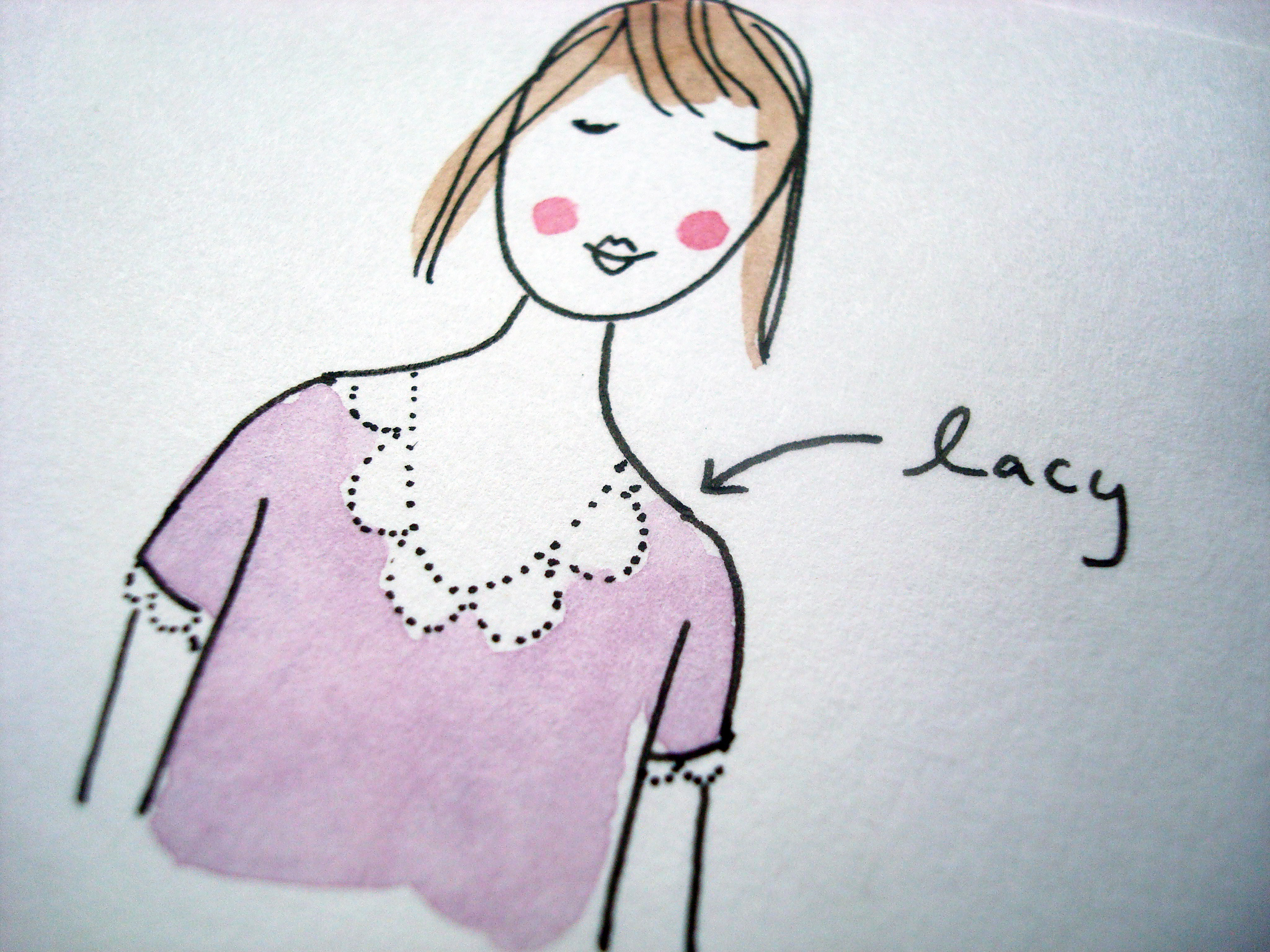 How to illustrate lacy clothing