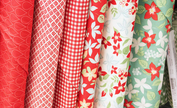 line of fabric