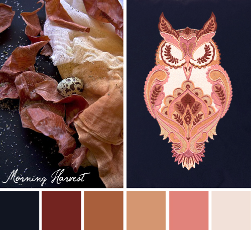Morning Harvest color theme by Urban Threads