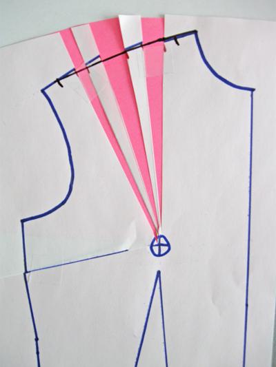 redrawing shoulder seam