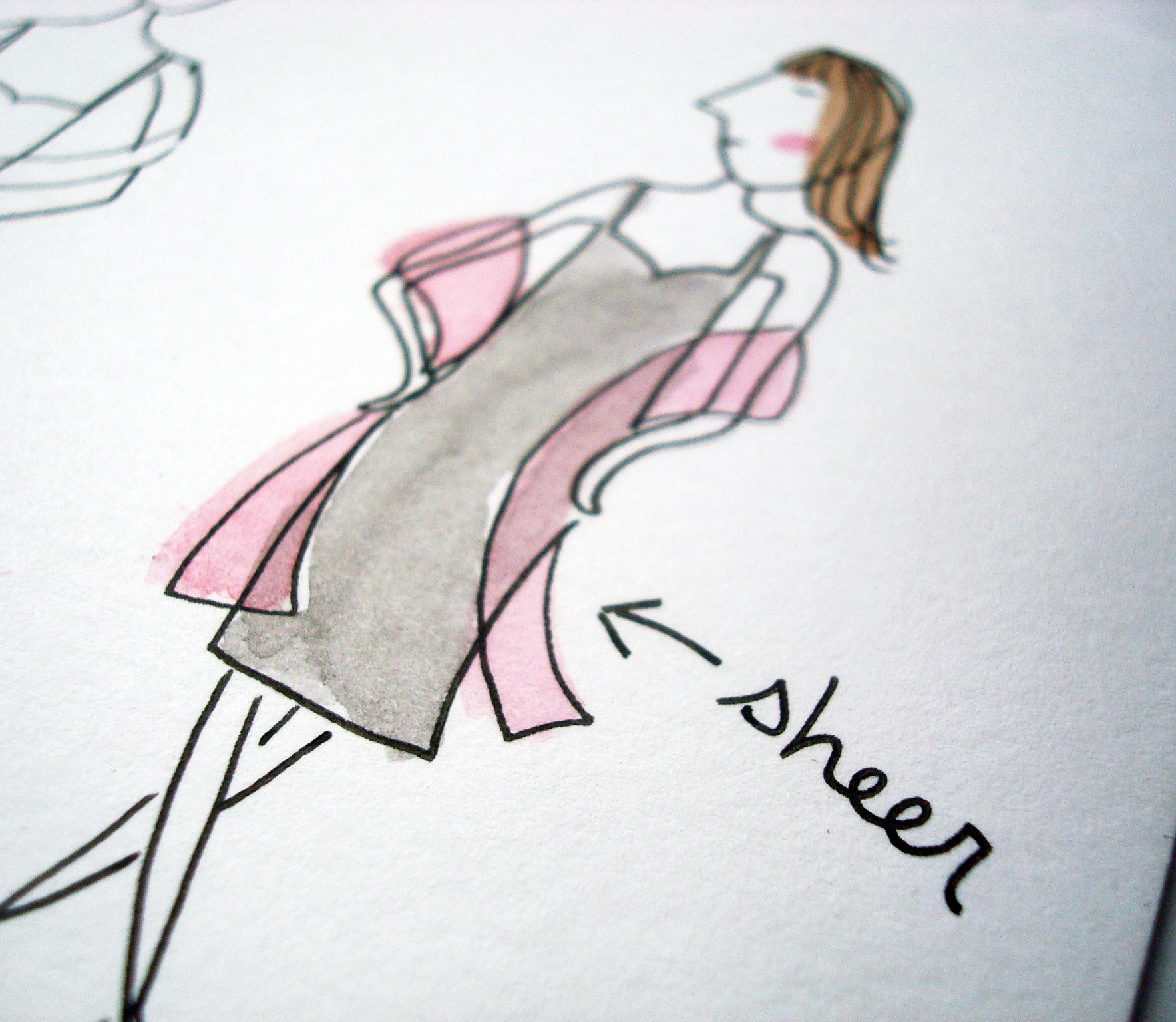 How to illustrate sheer clothing