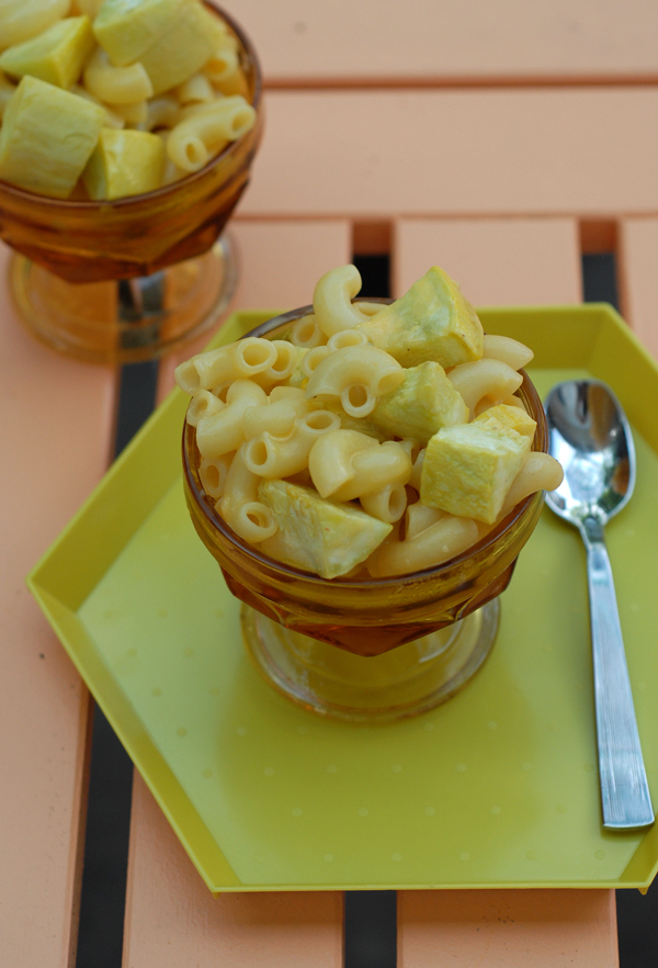 Serving of Squash Mac and Cheese