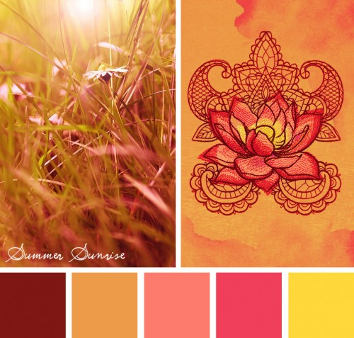 Summer Sunrise color theme by Urban Threads