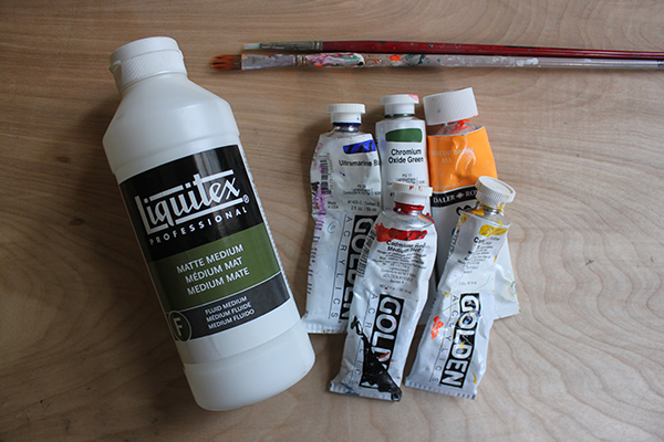 Supplies for tutorial