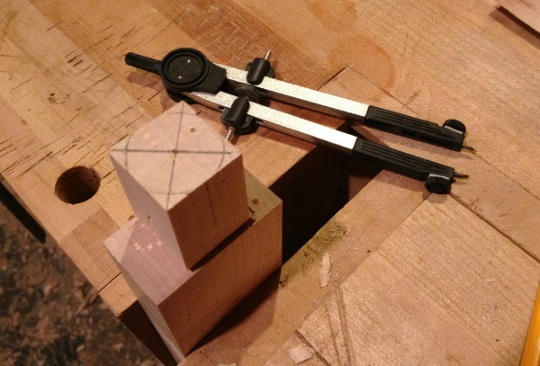 Tenon with circle on top