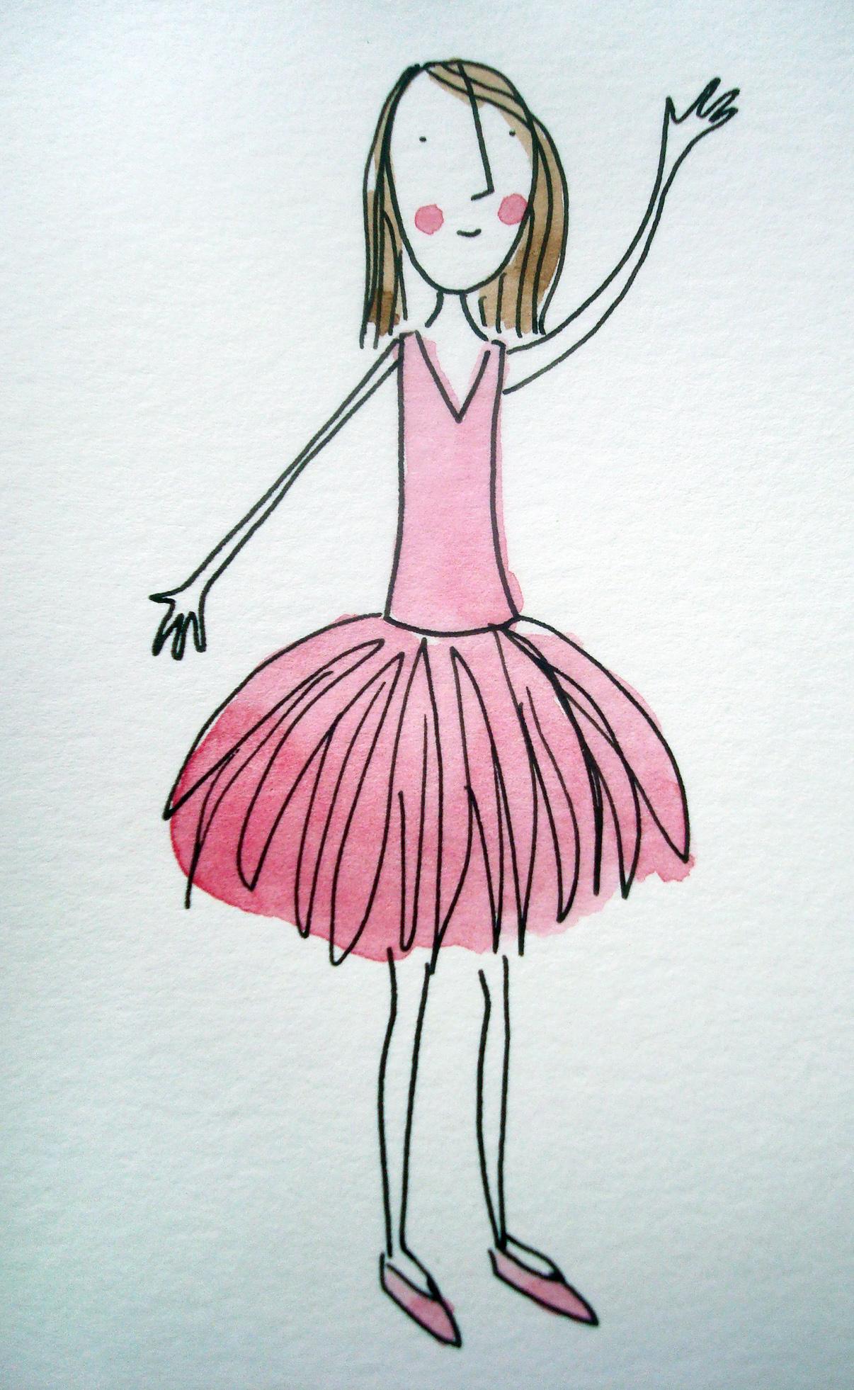 How to illustrate feathery tutu