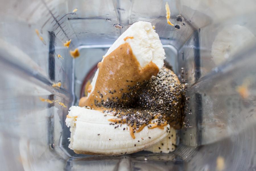 Blending Chia Seed Pudding Ingredients