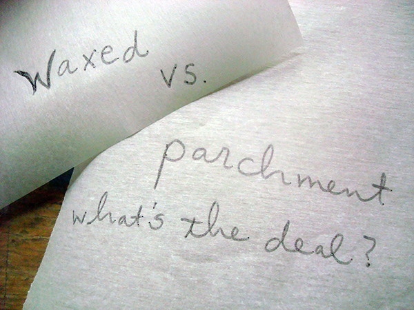 Waxed versus parchment