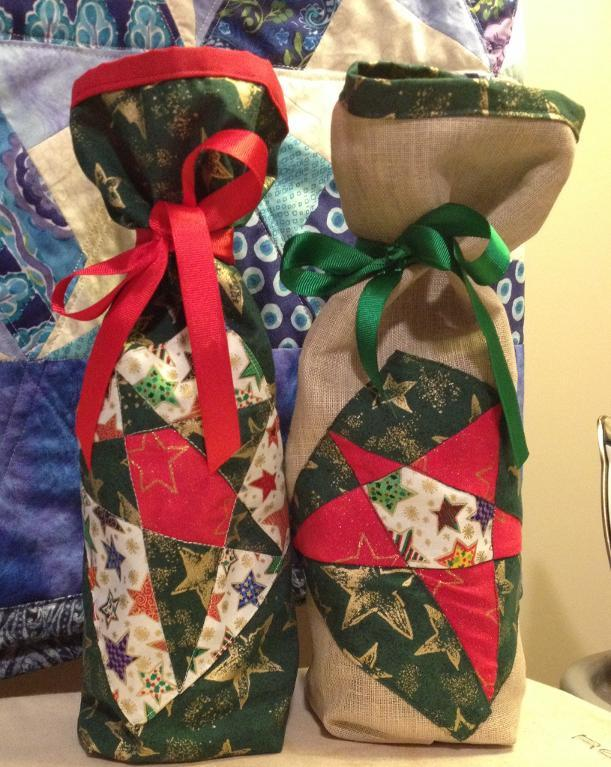 Quilted wine bags via Bluprint member Crystollyn