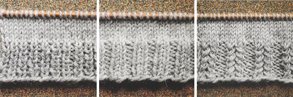 Knitting Edges: ribs