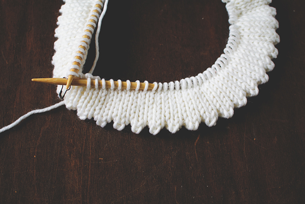 Knitting Edges: picot hem